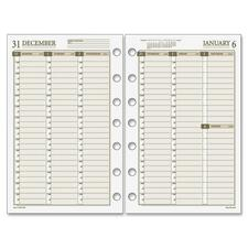 DRN 481485 Day Runner Vertical Weekly Planning Pages DRN481485