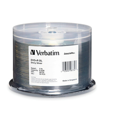 Verbatim 2.4x DVD+R DL Media, 50 Pack