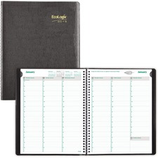RED CB425WBLK Rediform Recycled Ecologix Weekly Planners REDCB425WBLK