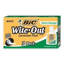 BIC WOFEC324 Bic Extra Coverage Wite-Out Brand Correction Fluid BICWOFEC324