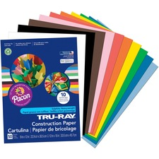 """Tru-Ray Construction Paper - 12\"""" x 9\"""" - Assorted"""