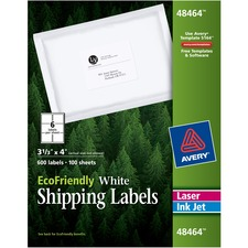 AVE 48464 Avery Eco-friendly Mailing Labels AVE48464
