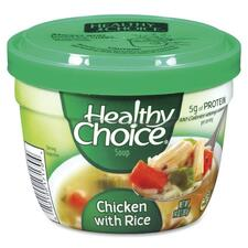 ConAgra Foods Healthy Choice Soup - Microwavable - Chicken, Rice - 14oz - 12 / Carton