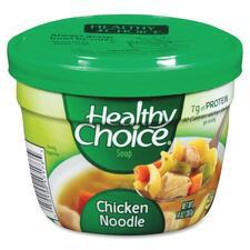 ConAgra Foods Healthy Choice Soup - Microwavable - Chicken Noodle - 14oz - 12 / Carton