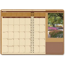HOD 523 House of Doolittle Landscapes Full-Color Ruled Monthly Planner HOD523