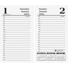 HOD 4717 Doolittle No.17 Daily Economy Desk Calendar Refill HOD4717