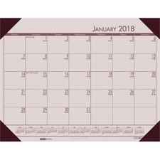 HOD 12470 Doolittle Ecotones Compact Calendar Desk Pads HOD12470