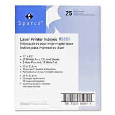 SPR 05851 Sparco Laser Printer Indexing System Dividers SPR05851