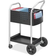 SAF 5238BL Safco Side Pocket Scoot Mail Cart SAF5238BL