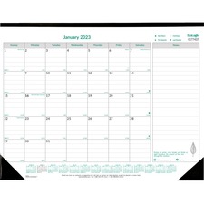 RED C177437 Rediform Recycled 1PPM Monthly Desk Pad REDC177437
