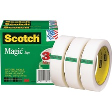 MMM 810723PK 3M Scotch Invisible Magic Tape Boxed Refill Roll MMM810723PK