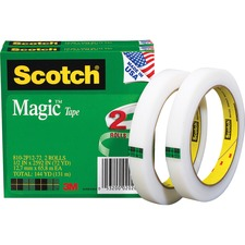 MMM 8102P1272 3M Scotch Invisible Magic Tape Boxed Refill Roll MMM8102P1272