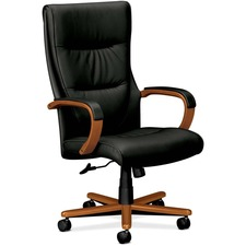 BSX VL844HSP11 basyx VL844 Leather High-Back Chair BSXVL844HSP11