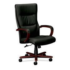 BSX VL844NSP11 basyx VL844 Leather High-Back Chair BSXVL844NSP11