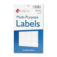 "MAC MR1212 Maco 3/4"" Diameter Removable Color Coding Labels MACMR1212"