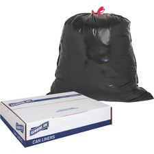 GJO 01230 Genuine Joe Black Flex Drawstring Trash Liners  GJO01230