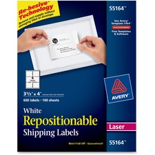AVE 55164 Avery Repositionable Laser Mailing Labels AVE55164