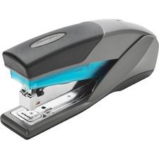 """Swingline Optima 25 Reduced Effort Stapler - 25 Sheets Capacity - 210 Staple Capacity - Full Strip - 1/4"""" Staple Size - Blue, Gray"""