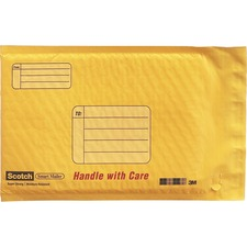 MMM 891325 3M Scotch Smart Plastic Coated Bubble Mailer MMM891325