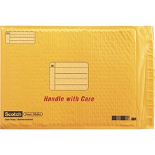 MMM 891525 3M Scotch Smart Plastic Coated Bubble Mailer MMM891525