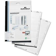 DBL 145502 Durable Click-Fold Convex Badge Insert Cards DBL145502