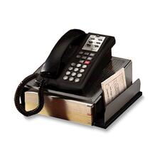 ROL E23562 Rolodex Distinctions Wood/Pnch Metal Phone Stand ROLE23562