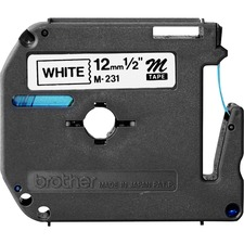 BRT M231 Brother P-touch Nonlaminated M Srs Tape Cartridge BRTM231