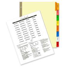KLF 44908 Kleer-Fax MAX-Tabs Insertable Asst. Clr Tab Dvdrs KLF44908