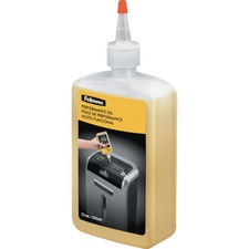 Fellowes Powershred® Shredder Oil - 12 Oz. Bottle - 12 oz - Light Amber