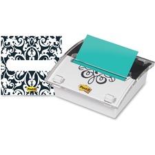 MMM DS330BWB 3M Post-it Notes European-Design Dispenser w/Notes MMMDS330BWB