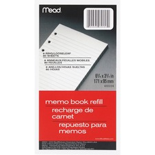 MEA 46534 Mead Memo Book Refill Pages MEA46534