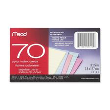 MEA 63140 Mead Double Ruled 3x5 Index Cards MEA63140