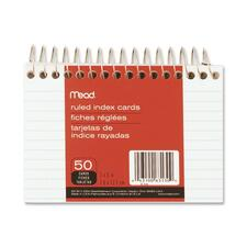 MEA 63130 Mead Spiralbound Ruled Index Cards MEA63130