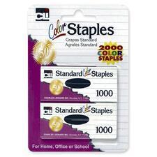 LEO 80262 Charles Leonard Chisel Pt Standard Colored Staples LEO80262