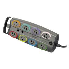 KMW 62691 Kensington SmartSockets Color-Coded Eight-Outlet Adapter Model Surge Protector KMW62691