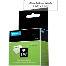 DYM 30254 Dymo Clear Address Labels DYM30254