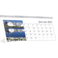 HOD 3649 Doolittle Recycled Desk Top Top-bnd Tent Calendars HOD3649