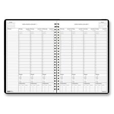 HOD 27139 House of Doolittle Weekly Planner with Half-Hour Appointments and Expense Log HOD27139