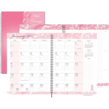HOD 5226 Doolittle BCA Pink Cover Mthly Wirebound Journal HOD5226