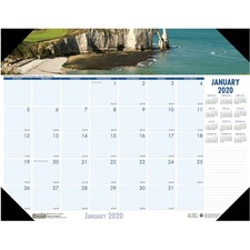 HOD 1786 Doolittle EarthScapes Coastlines Monthly Desk Pad HOD1786