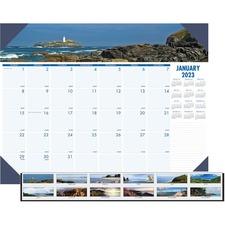 HOD 178 Doolittle EarthScapes Coastlines Monthly Desk Pad HOD178
