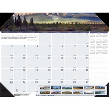 HOD 176 Doolittle EarthScapes Mountains Mthly Desk Pad HOD176