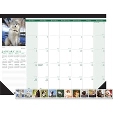HOD 199 Doolittle Earthscapes Puppies Monthly Desk Pad HOD199