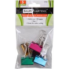BAU 29730 Baumgartens Metallic Binder Clips BAU29730