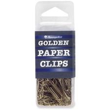 BAU ES8050 Baumgartens Brass Electroplated Std Paper Clips BAUES8050