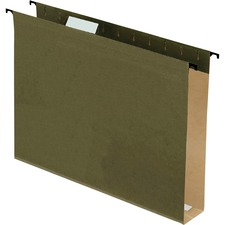 """Pendaflex Extra Capacity 2"""" Hanging File Folders - Letter - 8 1/2"""" x 11"""" Sheet Size - 2"""" Expansion - 1/5 Tab Cut - Green - 3.70 lb - Recycled - 20 / Box"""