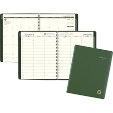 AAG 70950G60 AT-A-GLANCE Recycled Weekly/Monthly Classic Appointment Book AAG70950G60