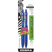 ZEB 22222 Zebra Z-Grip Retractable Ballpoint Pens ZEB22222