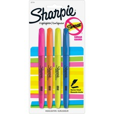 SAN 27174PP Sanford Sharpie Accent Highlighters w/Smear Guard SAN27174PP