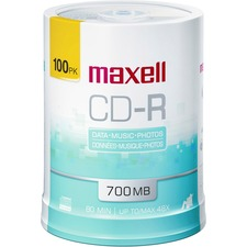 Maxell 48x CD-R Media - 700MB - 100 Pack